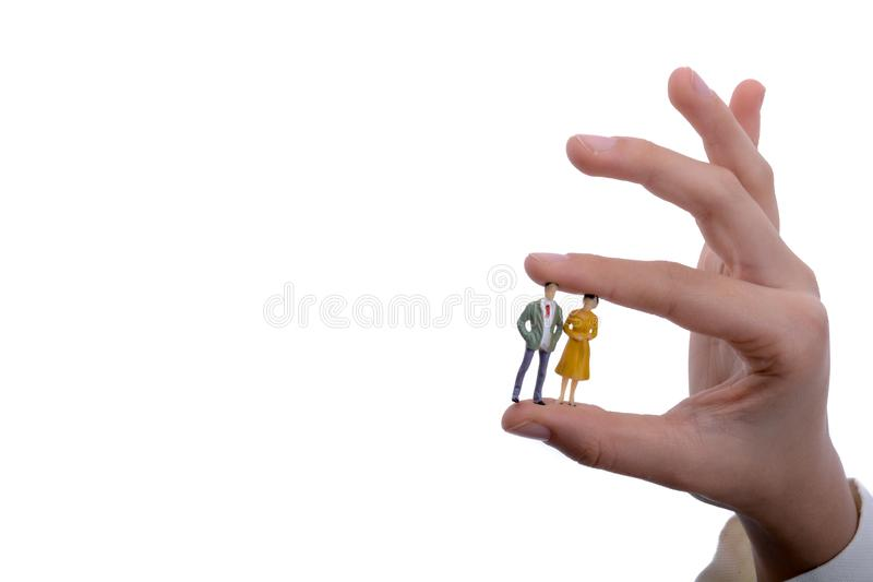 Uomini di modello della figurina disponibili fotografia stock libera da diritti