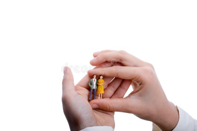 Uomini di modello della figurina disponibili fotografia stock