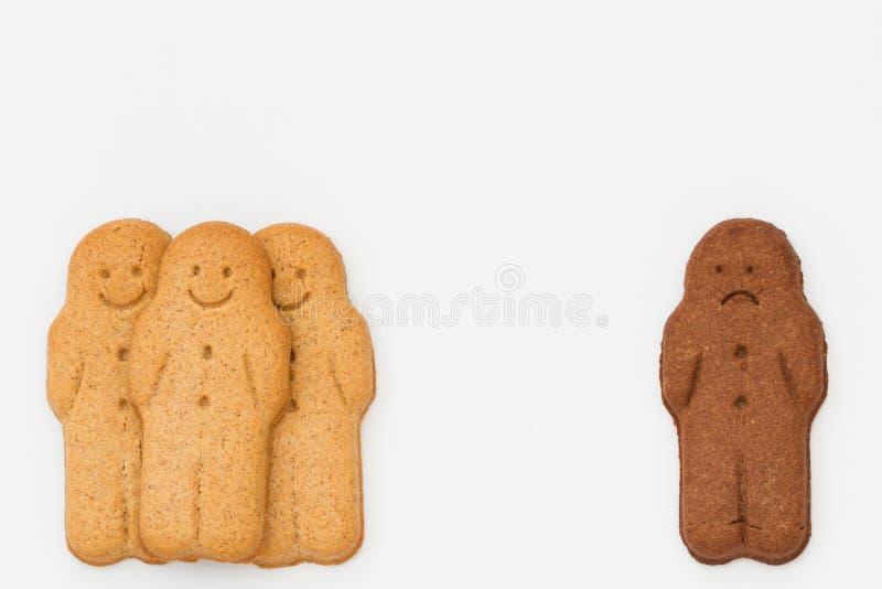 Uomini di pan di zenzero in bianco e nero fotografia stock