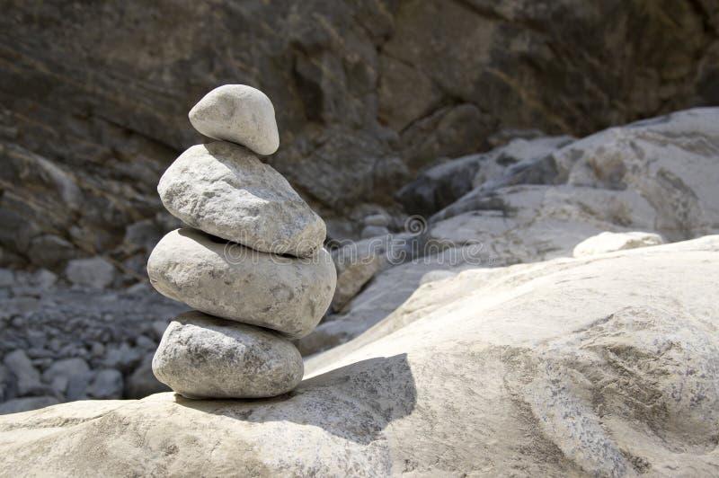 Uomini di pietra in Samaria Gorge sull'isola di Creta fotografia stock libera da diritti