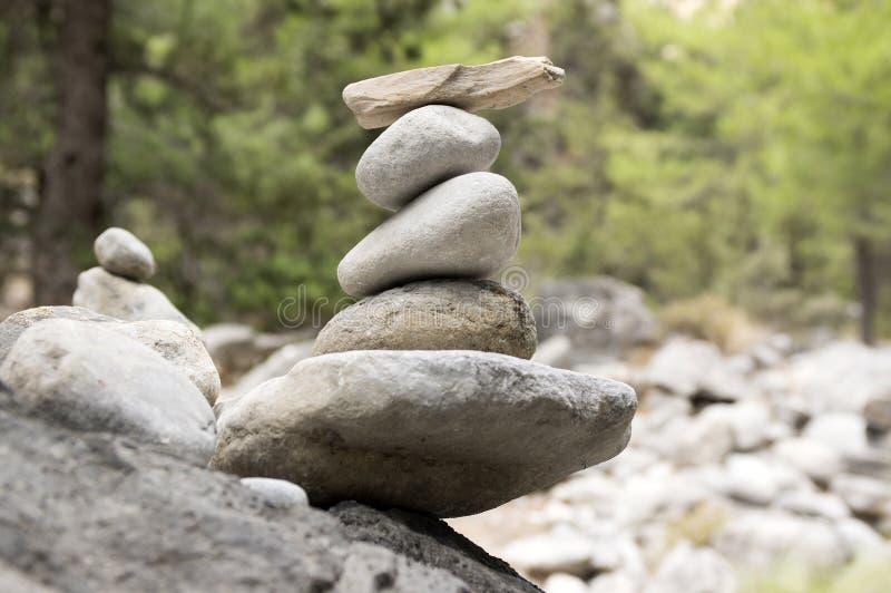 Uomini di pietra in Samaria Gorge sull'isola di Creta fotografie stock libere da diritti