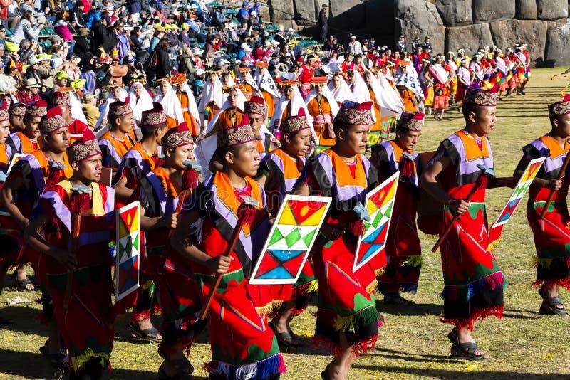 Uomini e costumi tradizionali Peru South America delle donne fotografia stock