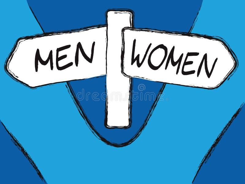 Uomini e donne illustrazione di stock