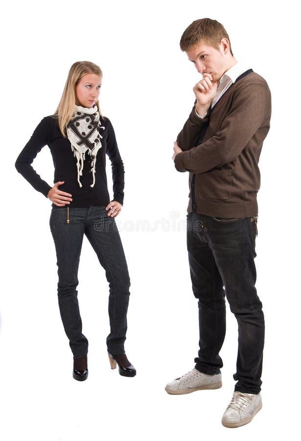 uomini e donne fotografia stock