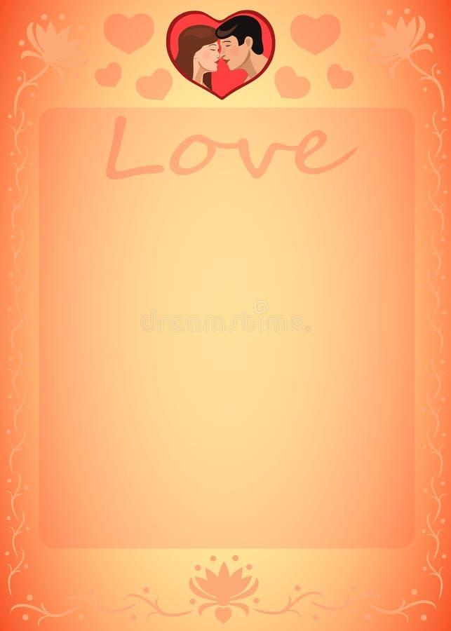 Uomini e donne del cuore di amore per lo strato accogliente royalty illustrazione gratis
