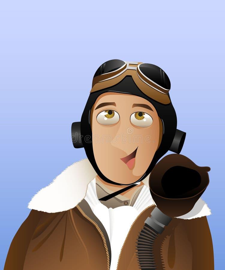 Uomini - pilota royalty illustrazione gratis