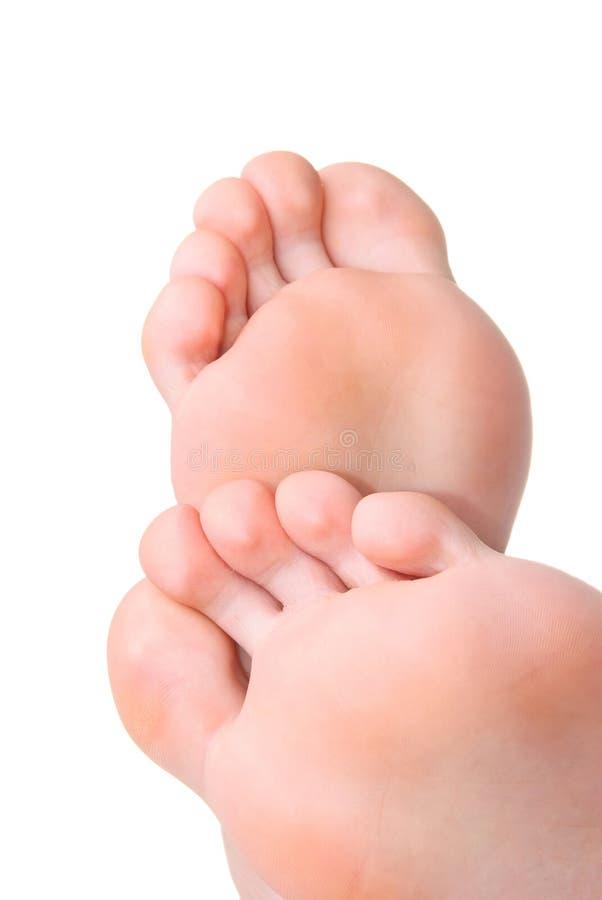 Uomini un il piede e un tallone fotografia stock libera da diritti