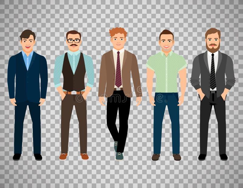 Uomini vestiti nello stile convenzionale di affari royalty illustrazione gratis