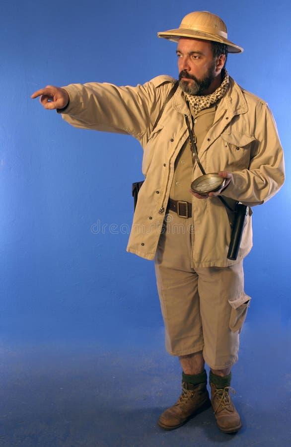Uomo 2 di safari fotografia stock libera da diritti