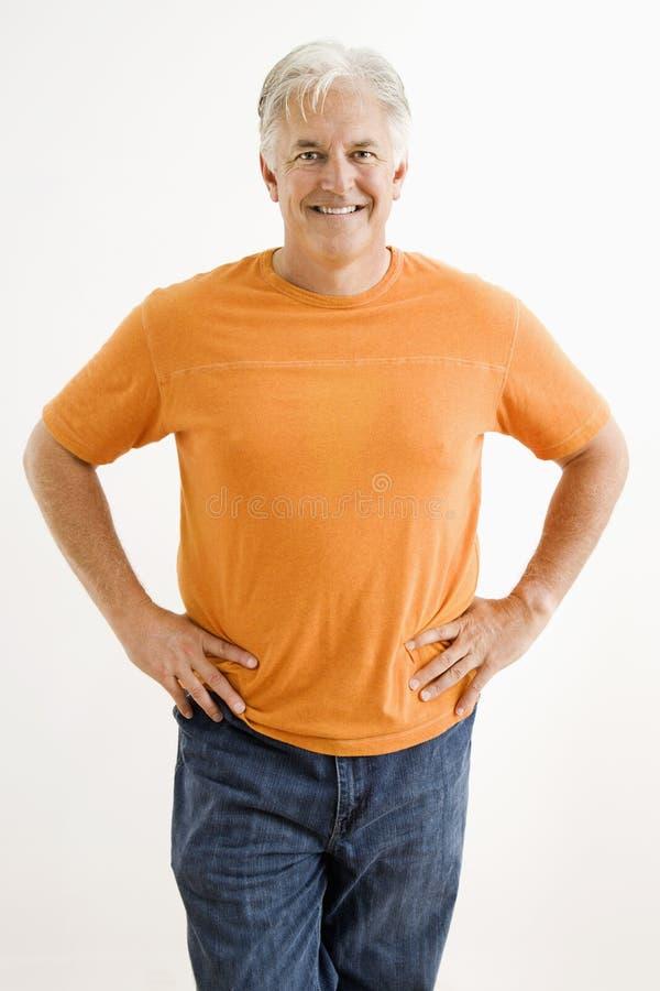 Uomo adulto sicuro. immagini stock libere da diritti