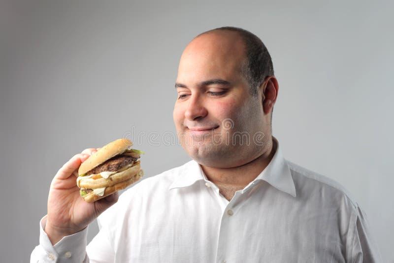 Uomo affamato fotografia stock