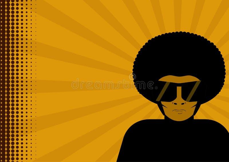 Uomo in afro illustrazione di stock