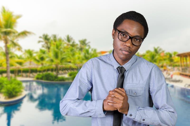 Uomo afroamericano aggressivo fotografia stock libera da diritti