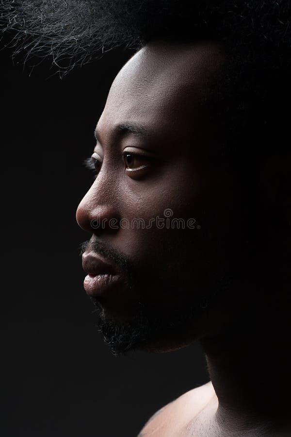 Uomo afroamericano bello immagine stock