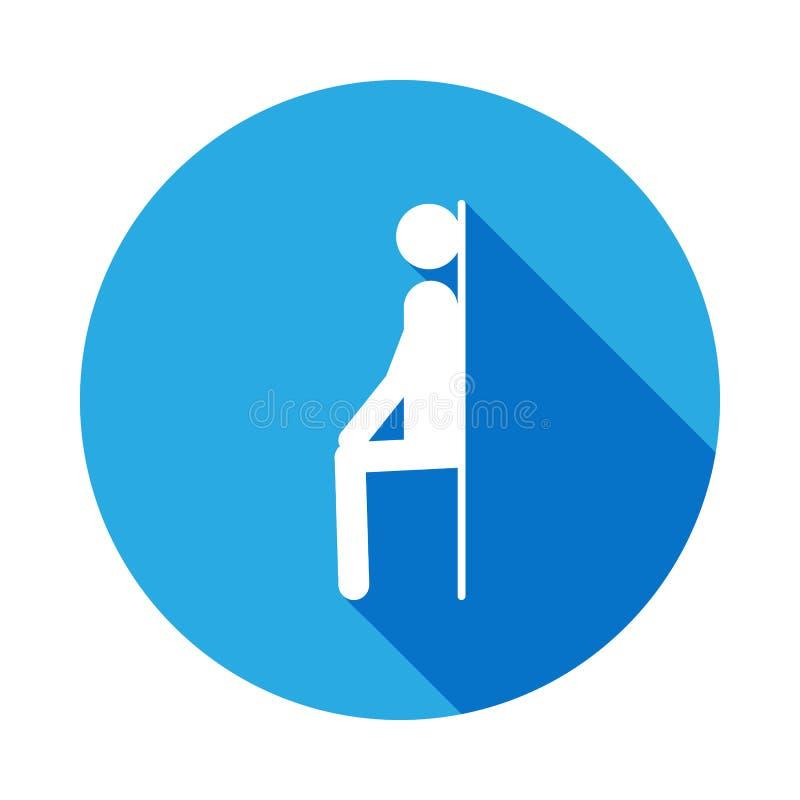 uomo all'icona della parete con ombra lunga Elemento dell'icona di sport con ombra lunga Segni ed icona per i siti Web, web della illustrazione vettoriale
