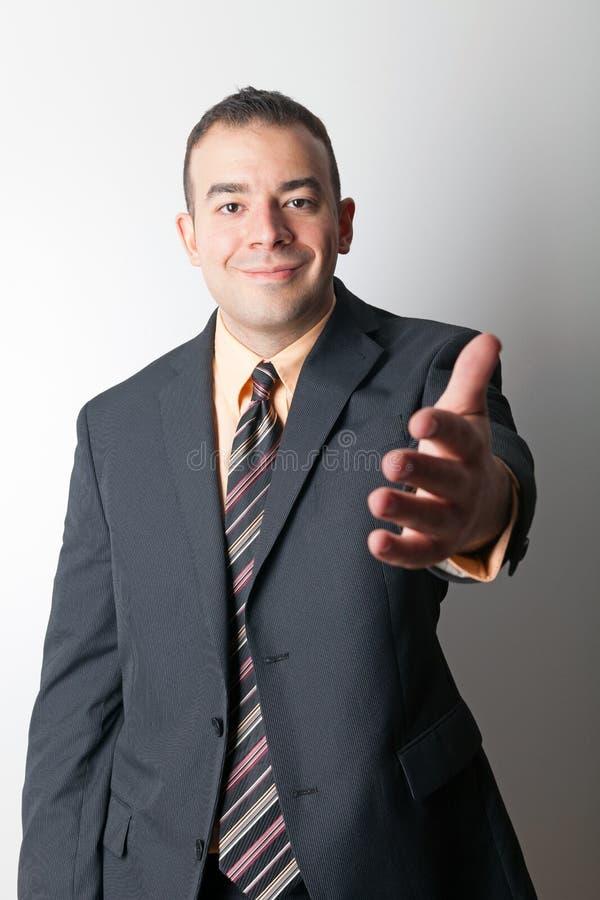 Uomo amichevole di affari fotografia stock libera da diritti