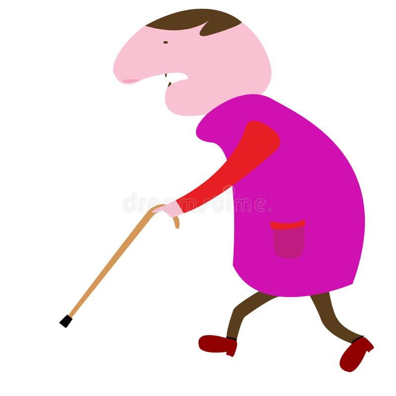 Uomo anziano illustrazione di stock