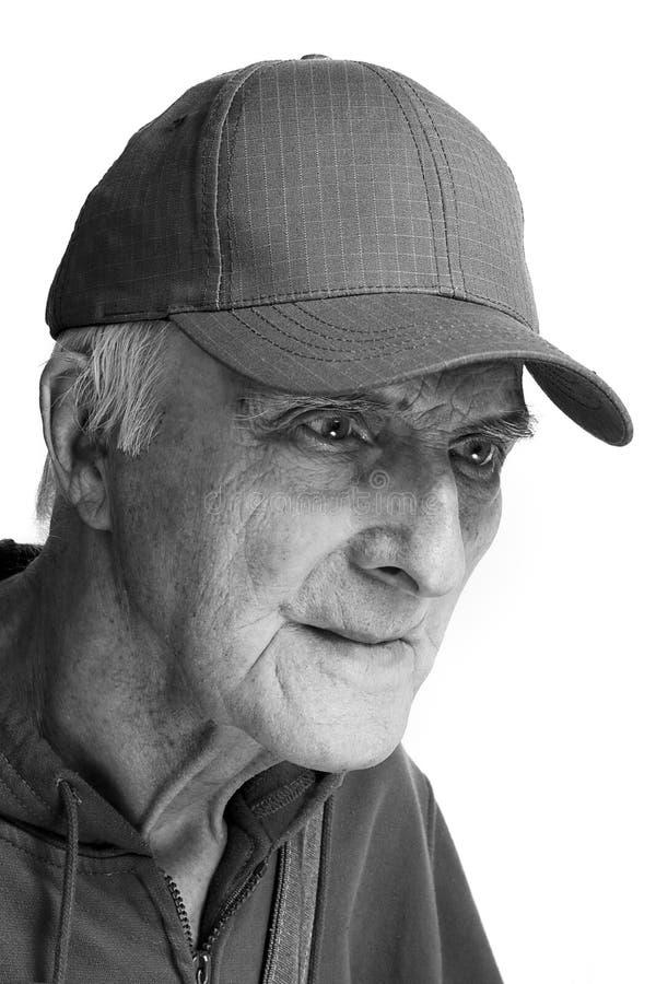 Uomo anziano allegro fotografia stock libera da diritti