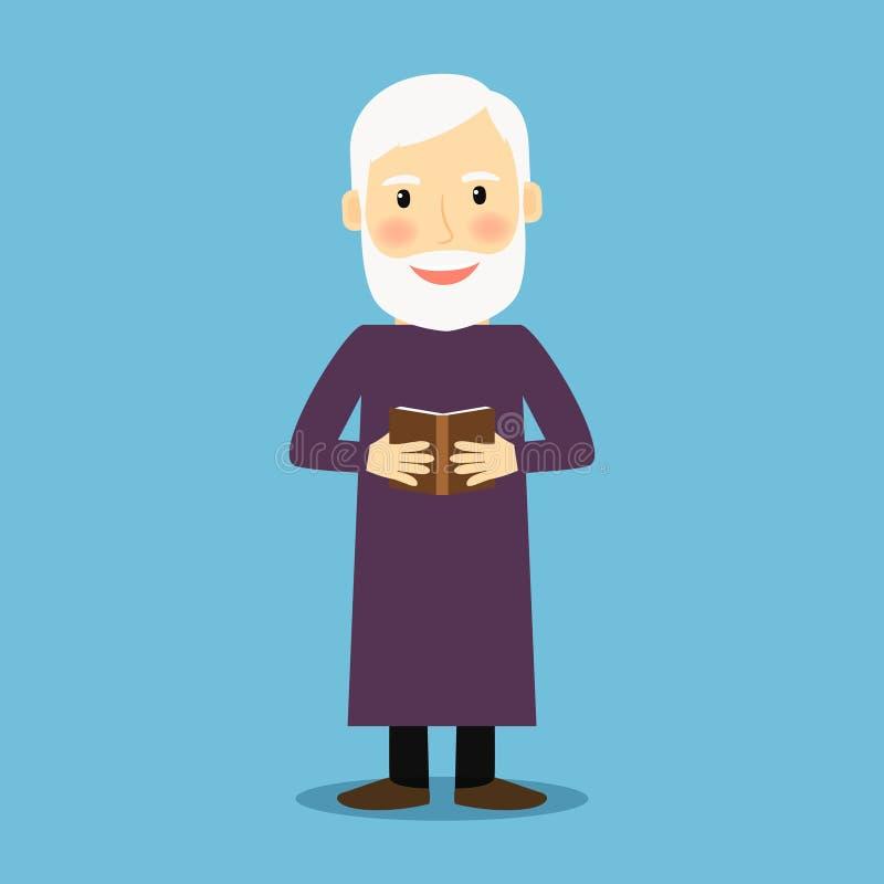 Uomo anziano dell'evangelista con il libro royalty illustrazione gratis