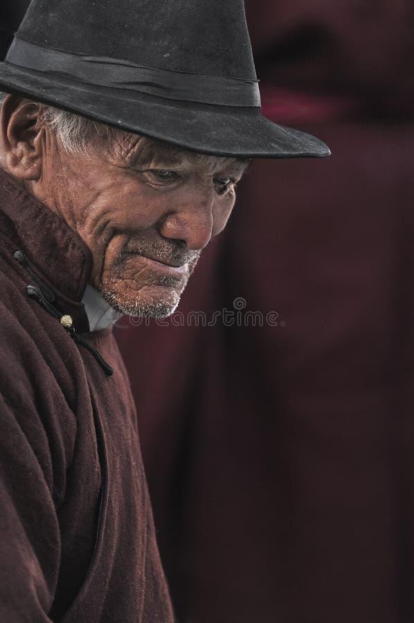 Uomo anziano di Ladakhi da Leh fotografie stock