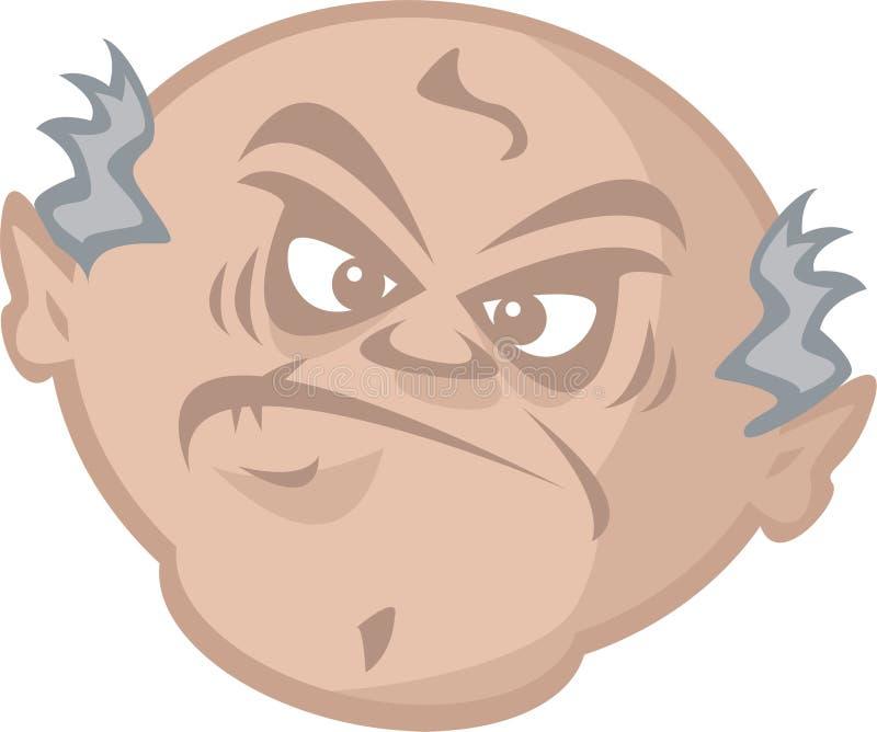 Uomo anziano scontroso royalty illustrazione gratis