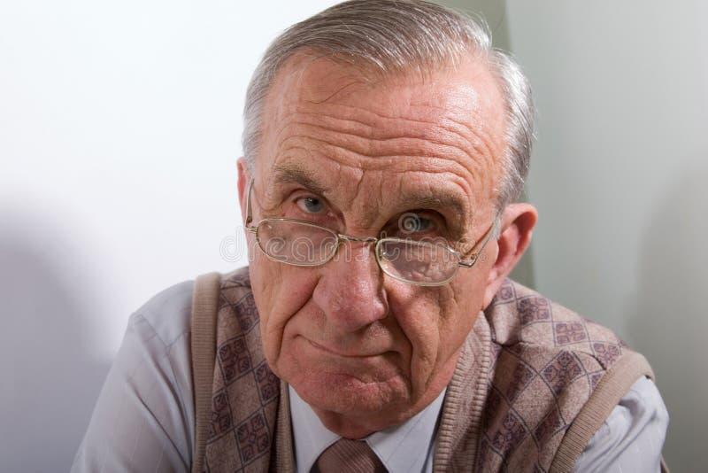 Uomo anziano serio immagini stock libere da diritti