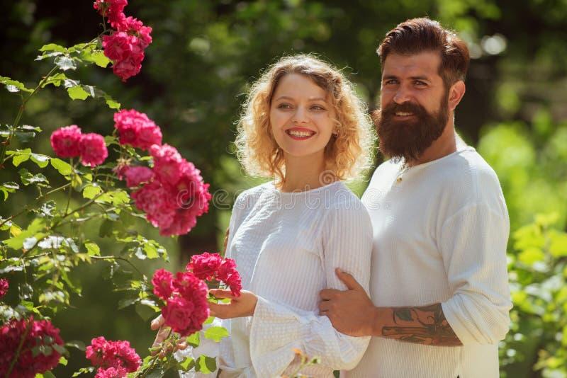 Uomo appassionato e donna affettuosi che godono eccitando momento del primo bacio Relazione sensuale Bei giovani fotografie stock