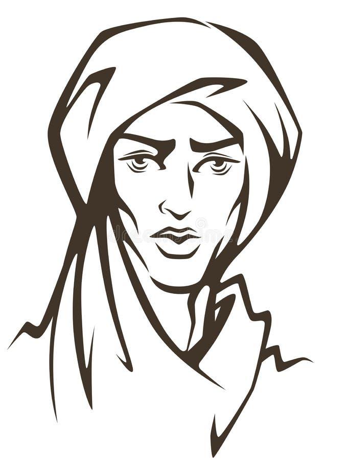 Uomo arabo illustrazione di stock