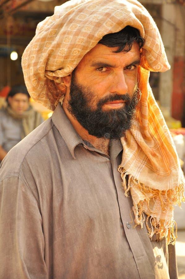 Uomo arabo con il turbante fotografia stock