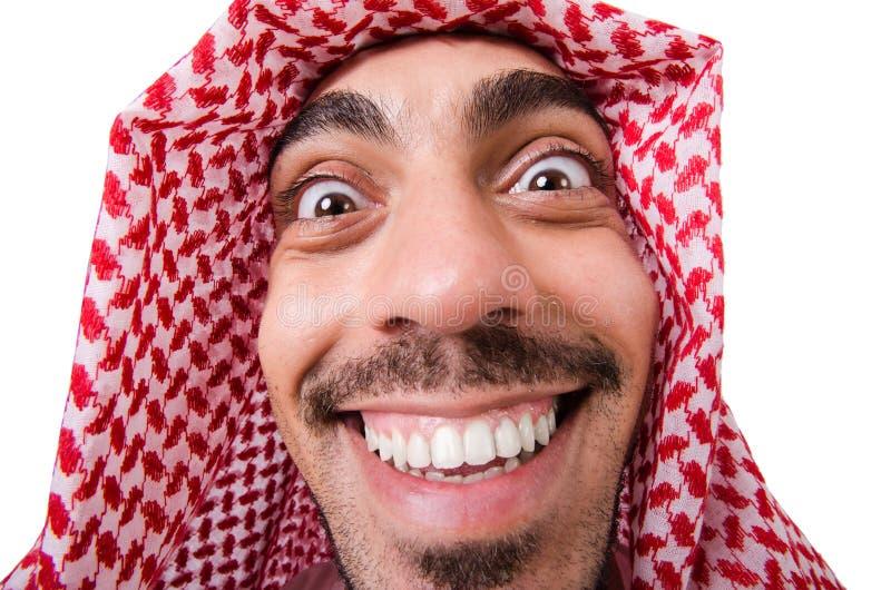 Uomo arabo divertente immagine stock