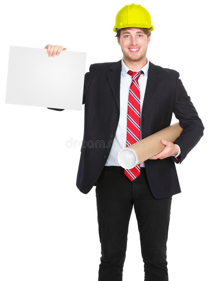 Uomo architetto/dell'assistente tecnico immagine stock