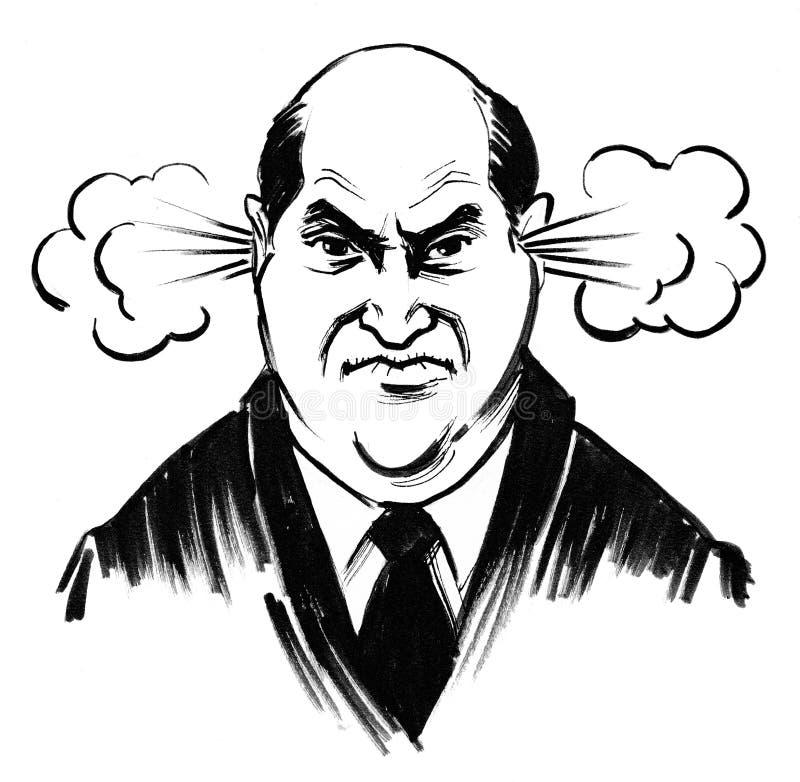 Uomo arrabbiato illustrazione vettoriale