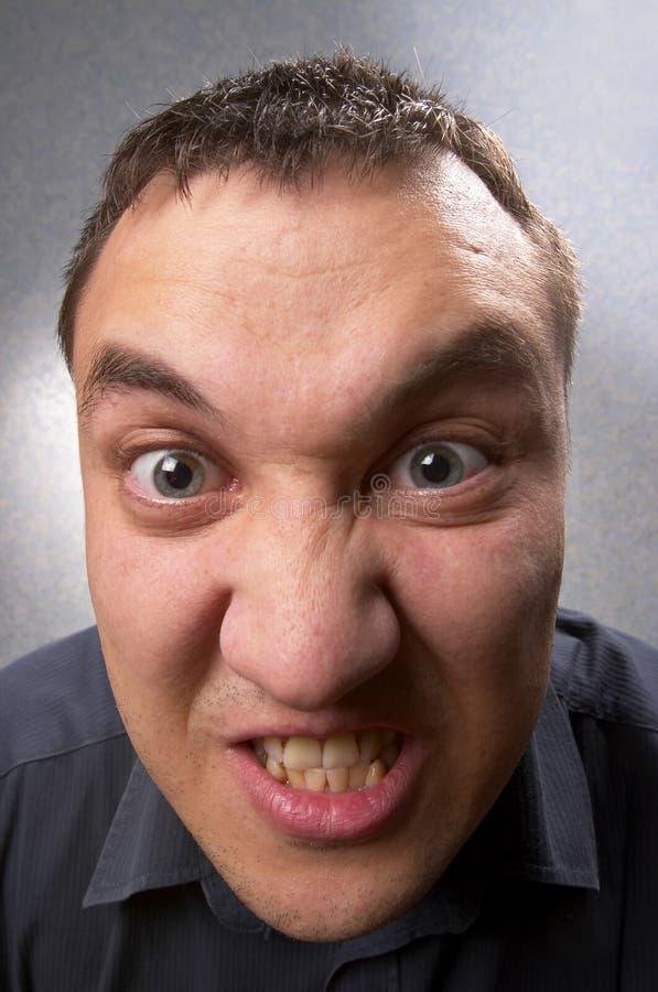 Uomo arrabbiato fotografie stock