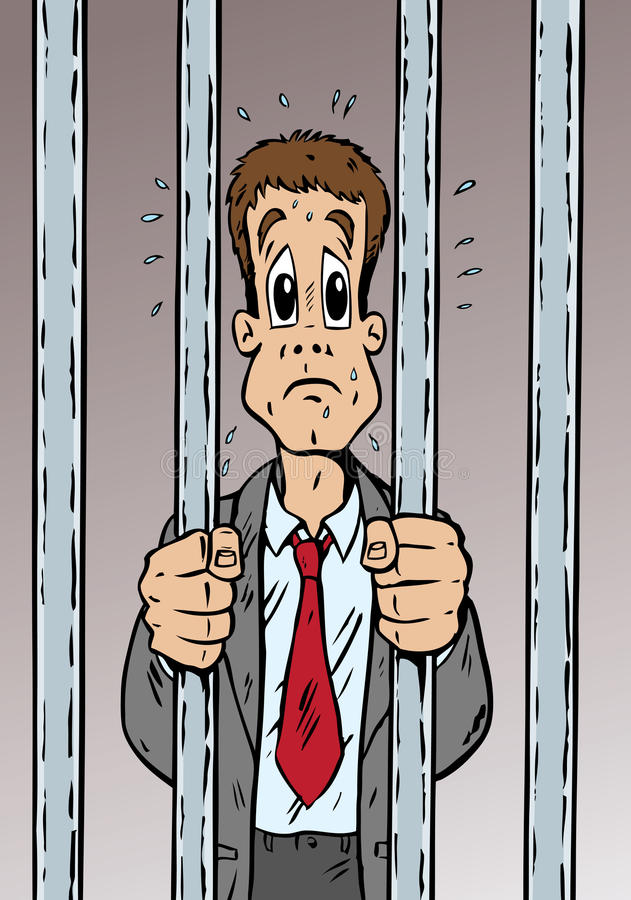 Uomo arrestato illustrazione di stock