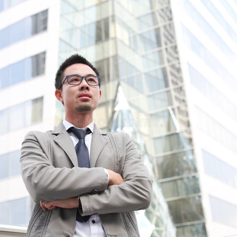 Uomo asiatico di affari fotografia stock