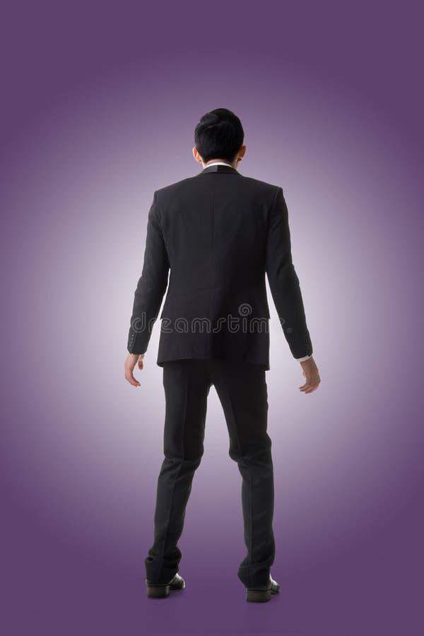 Uomo asiatico di affari sorpreso fotografie stock