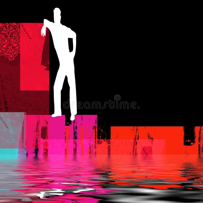 Download Uomo Astratto Al Lato Di Acqua Illustrazione di Stock - Illustrazione di rosso, liquido: 3894293
