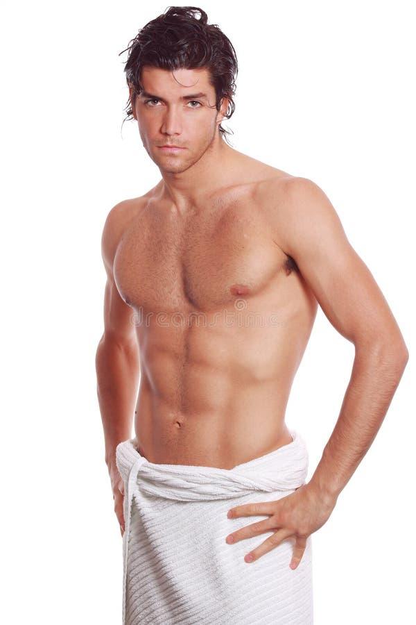 Uomo atletico sexy fotografia stock