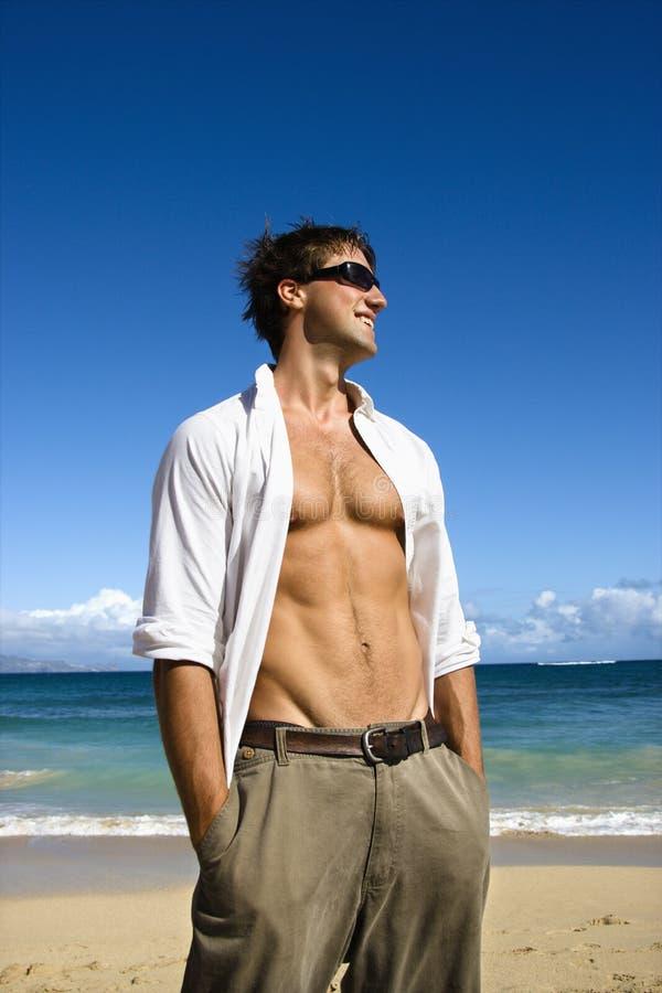 Uomo attraente. fotografie stock