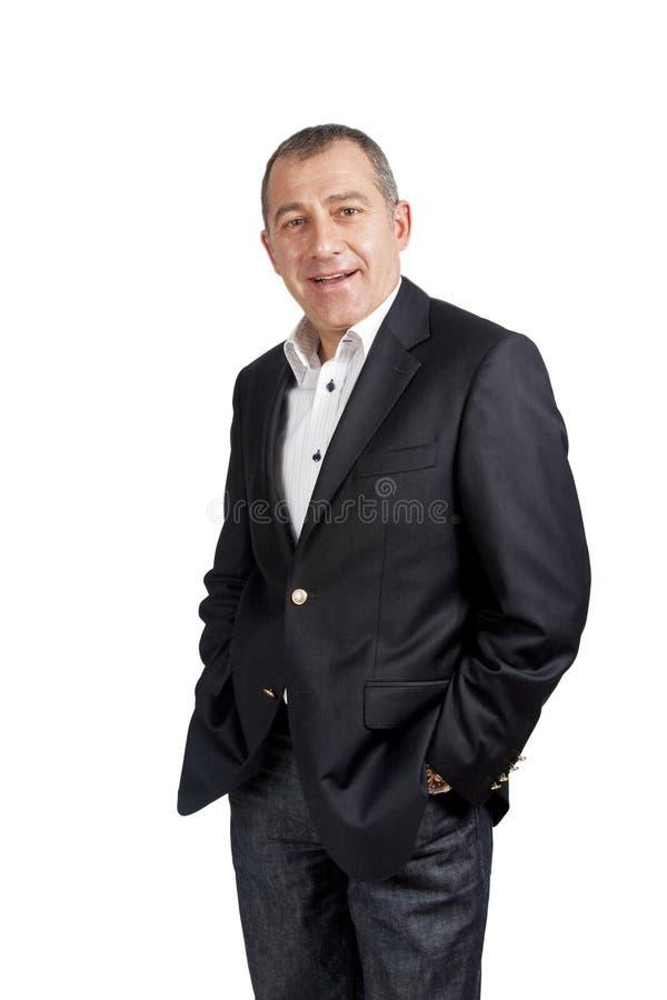 Uomo attraente di affari fotografia stock