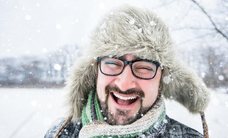 Uomo barbuto adulto fotografia stock