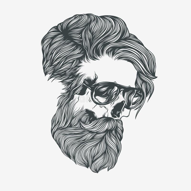 Uomo barbuto Illustrazione di vettore immagine stock libera da diritti