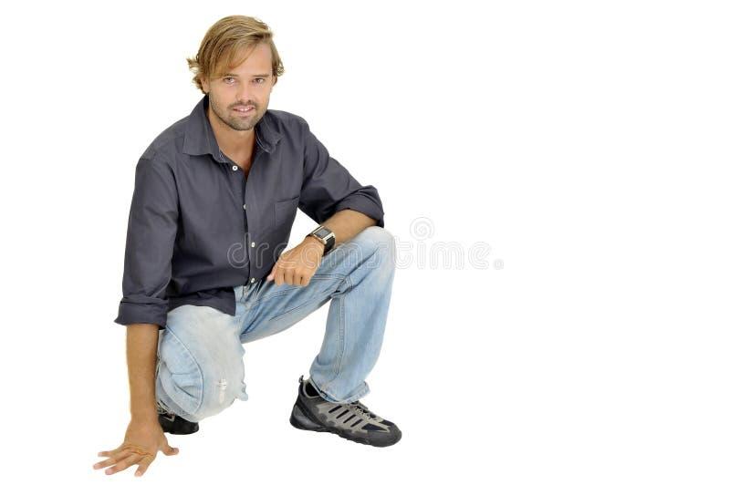 Uomo bello immagine stock