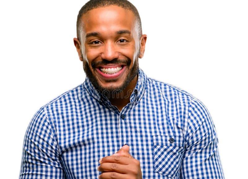 uomo bello dell'afroamericano immagini stock