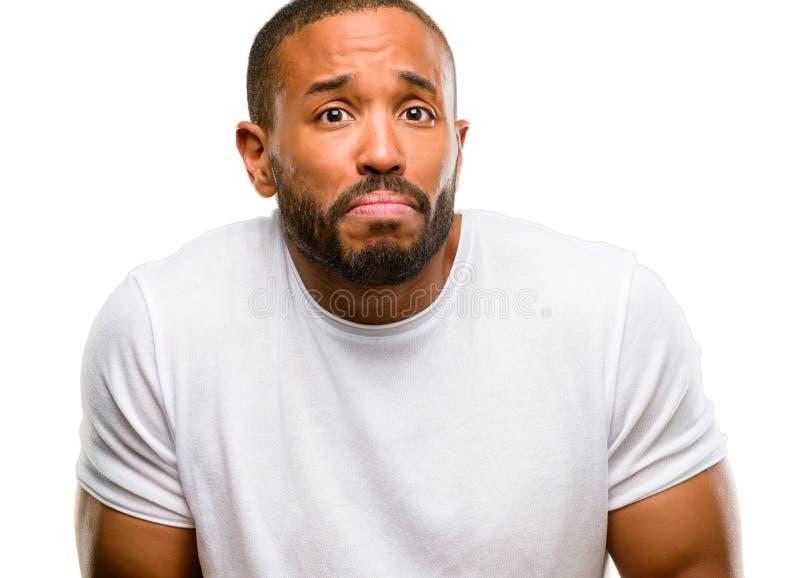 uomo bello dell'afroamericano fotografie stock libere da diritti