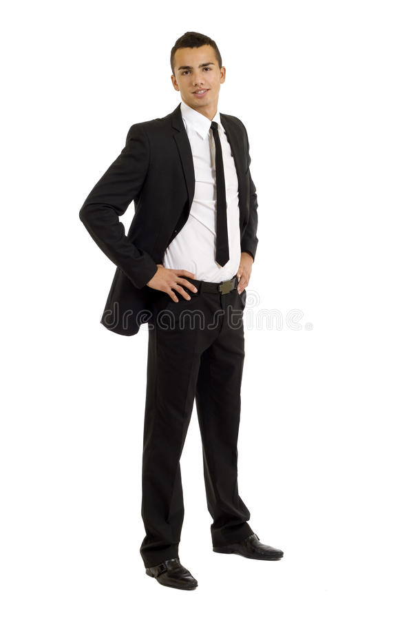 Uomo bello di affari immagine stock