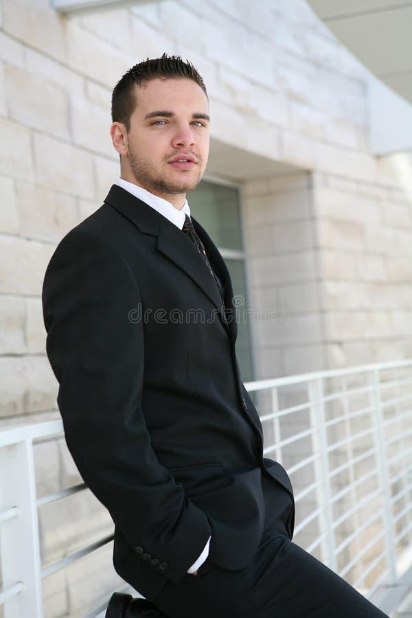 Uomo bello di affari fotografia stock
