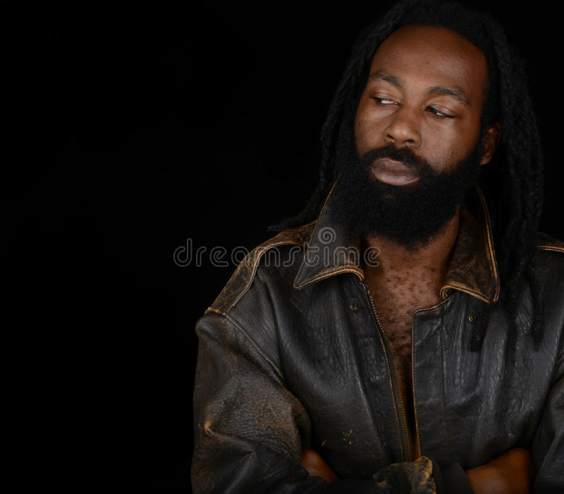 Uomo bello di afro fotografie stock