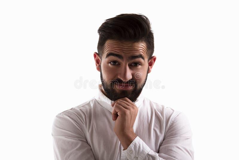 Uomo bello sorpreso immagine stock libera da diritti