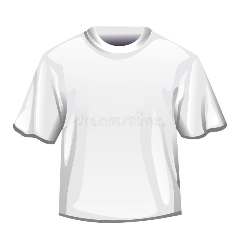 Uomo bianco della maglietta royalty illustrazione gratis